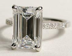Emerald cut 4.64 ct. Price=undisclosed....omg. I wish.