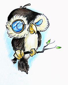 Owl by FannyCl.deviantart.com on @deviantART