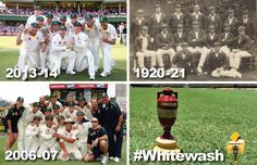 Ashes Whitewash Teams