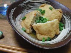 冷凍豆腐と挽肉の包み煮