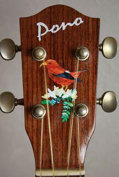 Hawaiian Honeycreeper Bird Inlay Sticker Decals