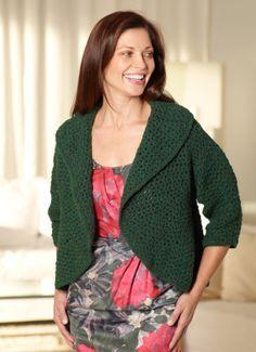Circular Shrug ~ Free crochet pattern from Lion Brand