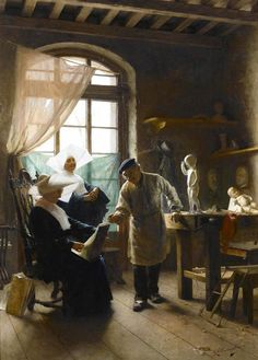 "G.Battista #Torriglia ""In the Artist's studio""1906"