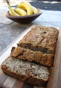 ThreeDietsOneDinner - Paleo Recipes to fit every diet - Paleo Weight Loss - Optimal Nutrition: BEST PALEO BANANA BREAD EVER. Notes, change to 1 T of cinnamon, add an extra banana, and 1 tsp of almond extract Paleo Dessert, Paleo Sweets, Paleo Food, Gluten Free Banana Bread, Banana Nut Bread, Paleo Bread, Paleo Recipes, Whole Food Recipes, Cooking Recipes