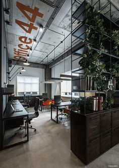 OFFICE 44 - renovated office of a modern construction firm. Designed by YØDEZEEN studio (Kiev, Ukraine).