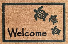 Nautical Welcome Door Mats Coastal Style, Coastal Decor, Coastal Furniture, Beach House Decor, Beach Houses, Home Decor, Beach Condo, Turtle Homes, Fishing Shack