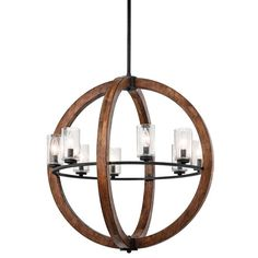 View the Kichler 43190 Grand Bank Single-Tier Globe-Style Chandelier with 8 Lights - Stem Included - 28 Inches Wide at LightingDirect.com.