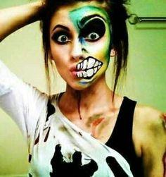 My costume!!!! #halloween #halloweenmakeup #costume