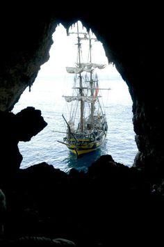 Ship La Grace (a replica of a brig from 18th century)