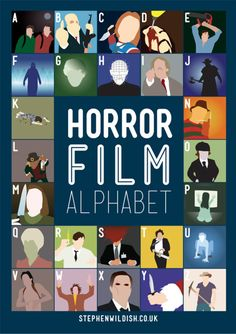 horror film alphabet poster - there are variations of this..e.g. 80s films!
