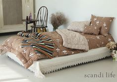 Scandi Life, FW collection, bed linnen, bedding, home interior, fall winter, comforter, 스칸디라이프, 신상, 나누기,덴스핀, 브라운, 침구세트, 예쁜이불, 신혼집 인테리어