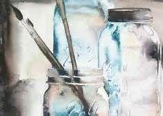 watercolor paintings ball jar - Bing Images
