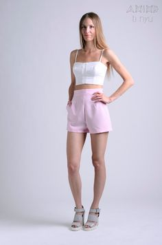 vintage 50s baby pink shorts / more colors and sizes / by OtinyuO
