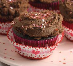 Chocolate Truffle Valentine Cupcakes