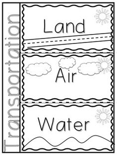Transportation Preschool Activities, Preschool Themes, Preschool Worksheets, Preschool Learning, Classroom Themes, Calendar Worksheets, Community Helpers Preschool, Science Tools, English Worksheets For Kids