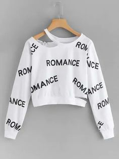 Cut Out Letter Print SweatshirtFor Women-romwe - Cut Out Letter Print SweatshirtFor Women-romwe Source by yasievantasie - Cute Lazy Outfits, Crop Top Outfits, Stylish Outfits, Girls Fashion Clothes, Teen Fashion Outfits, Outfits For Teens, Tomboy Outfits, Jugend Mode Outfits, Stylish Hoodies