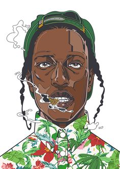 ASAP Rocky Illustration Graffiti / street art , Urban art .. lets just call it ART.. https://www.etsy.com/shop/urbanNYCdesigns?ref=hdr_shop_menu