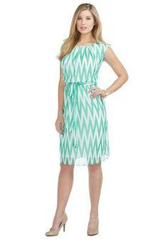 5bcef684506 Cato Fashions Chevron Sheer Georgette Dress  CatoFashions Church Outfits