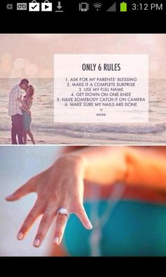 Future husband please do this before you propose #engagement #wedding