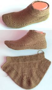 Crochet Knit Booties in 15 minutes - Tutorial Love, Booties in 15 minutes - Tutorial Knitting Tutorial Stricken. Loom Knitting, Knitting Socks, Knitting Stitches, Knitting Patterns Free, Free Knitting, Baby Knitting, Felt Patterns, Knitted Booties, Knitted Slippers