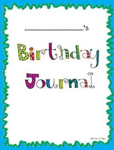 Do your students write letters to the birthday boy or girl? Make an easy class book.  Great for Work on Writing time! $1.00