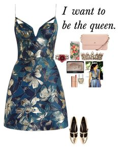 """""""Margaery Tyrell"""" by daciejeanne ❤ liked on Polyvore featuring Zimmermann, Betsey Johnson, NARS Cosmetics, Rifle Paper Co, Nails Inc., Charlotte Tilbury, ASOS and Mulberry"""
