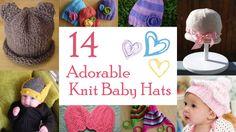 Adorable Knit Baby Hats | AllFreeKnitting.com