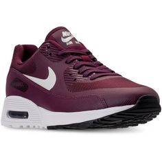 Nike Women's Air Max 90 Ultra 2.0 Running Sneakers from Finish Line (1.298.685 IDR) ❤ liked on Polyvore featuring shoes, nike footwear, nike shoes, flexible shoes and nike