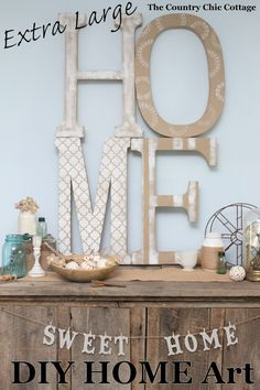 Make this HOME art for large impact in any room! Huge wall art on a budget!