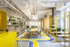 This Coworking Space created by MAT Office, covers an area of about 800 square meter, divided into first level, second level and underground level.