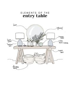 how to perfectly style an entry way + entry table // home decor ideas - - Elements Of The Entry Table. Home Design, Interior Design, Design Design, Design Ideas, Dining Room Sets, Architectural Digest, Deco Boheme Chic, Diy Luminaire, Deco Originale