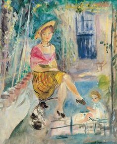 Charles Camoin (1879-1965), French, La Nicoise sous la tonnelle a Saint Tropez, 1942. Private collection.