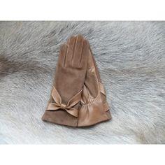 Női divatbőrkesztyű selyem béléssel