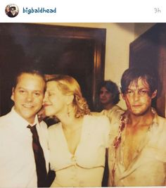 From Norman Reedus @bigbaldhead on instagram with Courtney Love and Keefer Sutherland.