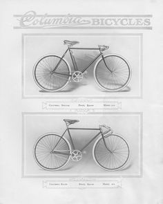 Pope Manufacturing Company Columbia Bicycles , 1912  Special and Racer,  Image number:SIL-038-10-22
