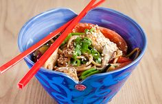 Meals for Quick, Healthy Dinner Ideas: Sesame Peanut Noodles Recipe