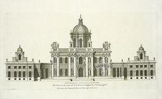Castle Howard, front, from Vitruvius Britannicus / Colen Campbell