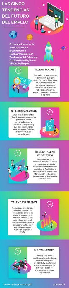 Las 5 tendencias del futuro del #empleo #infografía