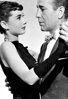 Best picture ever!! Humphrey Bogart and Audrey Hepburn, why didn't they make a move together?!?