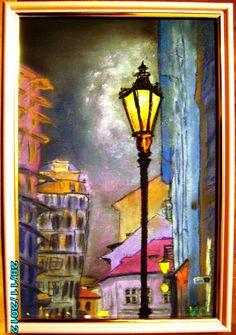 Картинки по запросу городской пейзаж пастелью