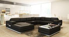 Divani Casa 5106 Modern Bonded Leather Sectional Sofa - Pearl Igloo