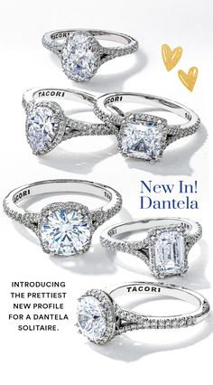 The prettiest new engagement ring from our iconic Dantela collection, the foundation of this ring reaches towards the center diamond of your choice with open arms. #Dantela #engagementring #dreamring #Tacori #TacoriRing