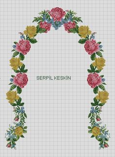 Cross Stitch Flowers, Cross Stitch Patterns, Cross Stitching, Shabby Chic, Bullet Journal, Free, Pink Tablecloth, Cross Stitch Embroidery, Towels