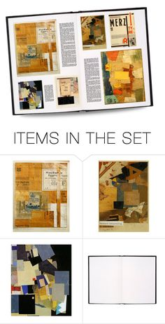 """""Schwitters Did Mostly Collages…He'd Carry an Empty Suitcase & Pick Up Scraps of Paper Off the Street…Ephemera…the 1st 'Trash' Art!…That's Why You See Bits of Words & Letters…But He Also Built an Immense Structure Inside His House, the Merzbau"""" by maggie-johnston ❤ liked on Polyvore featuring art"