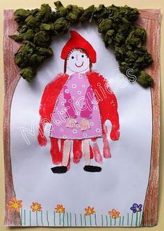 Mauriquices: No bosque vai o Capuchinho Vermelho... Mani, Crafts For Kids, Christmas Ornaments, Holiday Decor, Home Decor, Made By Hands, Books, Woods, Crafts For Children