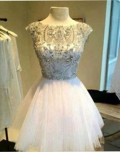 Pd260 Short Prom Dress,Tulle Prom Dress,Crystal Prom Dress,Charming Prom Dress