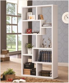 Shop Coaster Furniture White MDF Wall Recessed Bookcase with great price, The Classy Home Furniture has the best selection of Bookcases to choose from White Wood Bookcase, White Bookshelves, Bookcases, Cheap Bookcase, Cube Bookcase, Baileys Furniture, White Coasters, Contemporary Bookcase, Coaster Fine Furniture