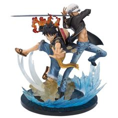 Trafalgar D. Water Law and Monkey D. Luffy figure One piece
