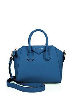 cbe94a76b8b Givenchy Antigona Mini in Electric Blue | Saks Fifth Avenue Leather Satchel  Handbags, Satchel Purse
