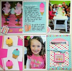 Sugar Shoppe: Simply Put Pocket Page Layout by Jodi Wilton on the Doodlebug Design Blog - fun way to use the treat bags - she has decorated it and filled it with extra photos
